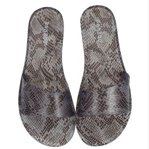 Snake Clear Jelly Slip-on Sandals